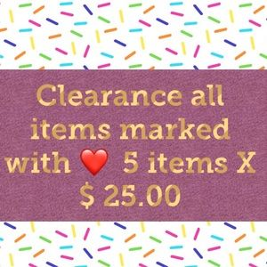 Tops - Clearance all items marked with ❤️ 5 items X  $25
